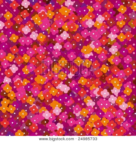 Seamless cute flower illustration background pattern in vector