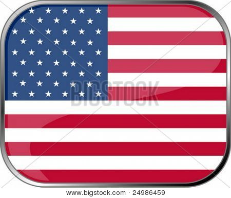 USA flag icon with official coloring