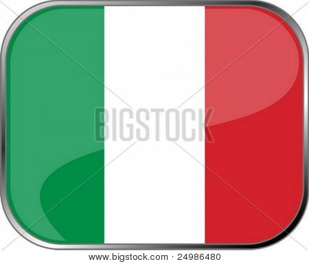 Italy flag icon with official coloring