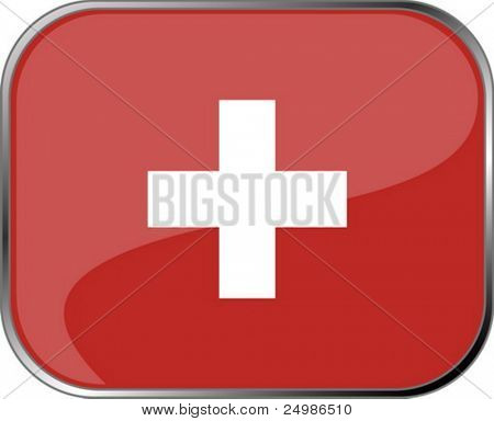 Switzerland flag icon with official coloring
