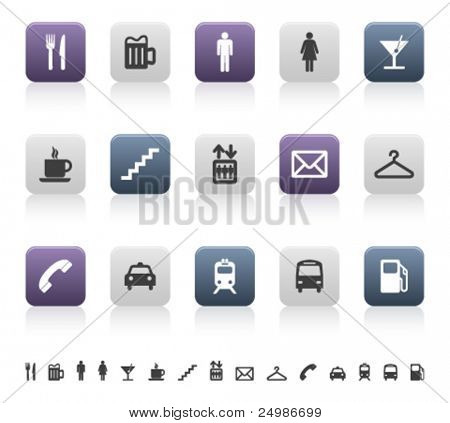 city and urban life pictograms (3 of 3)