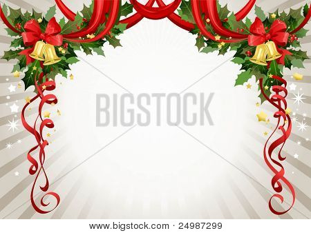 Christmas frame with space for text