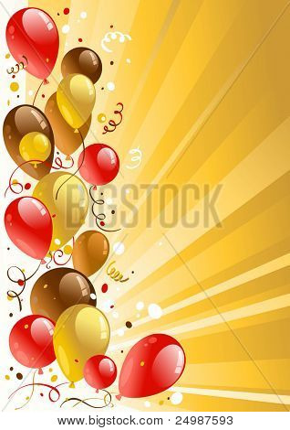 Golden celebration background with space for text