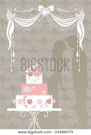 Wedding cake with space for text