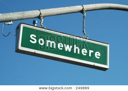 Somewhere Sign
