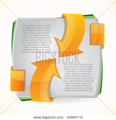 Modern brochure design with orange arrows