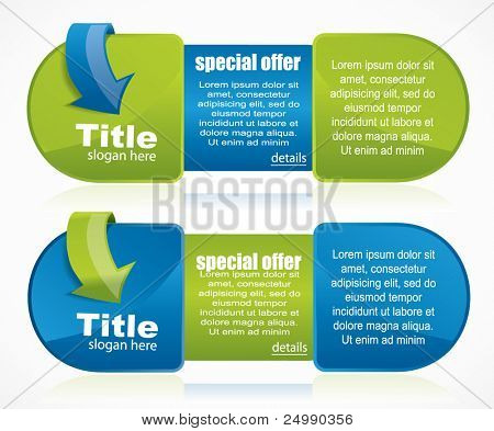 Web2 banner with place for text, title and details