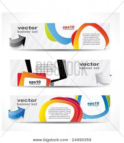 Web2 website banner set with speech balloons and place for your text