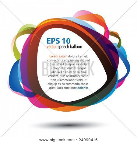 Colorful speech balloon isolated over white background