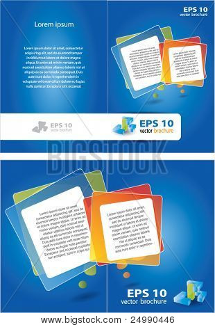 Two sided vector brochure design with place for text