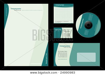 Corporate Identity Template Vector