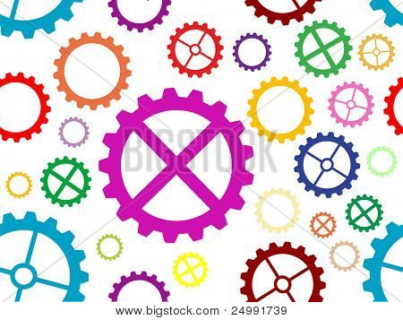colorful seamless cogwheel background