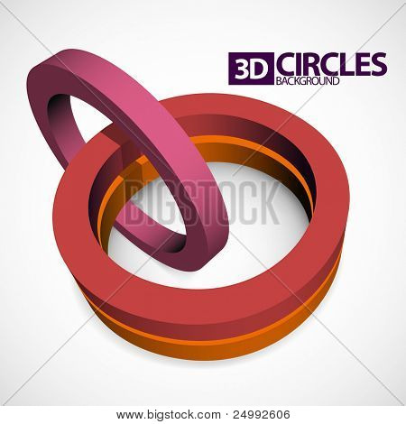 abstract 3D red circles
