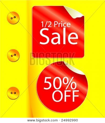Vector Clothes Retailer Sale Illustration / Advert / Poster (Sticker text is easy to edit)