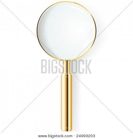 Vector Gold Magnifying Glass