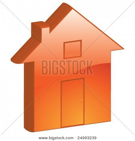 Vector Home, Property, Homepage - 3D Glossy Icon