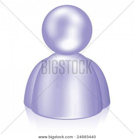 Vector Purple Ultra Shiny Person Icon (4 of 5)