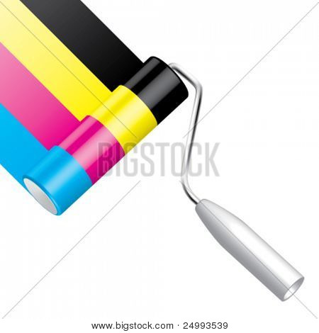 Vector Painting CMYK (Diagonally)