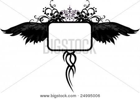 Gothic black wings design
