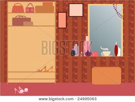 Interior of girly room