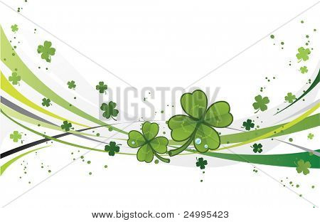 Shamrock background for St.Patrick's Day