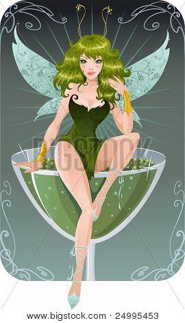 Cute absinth fairy