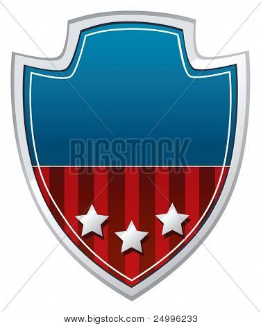 Arm shield in U.S. national colors
