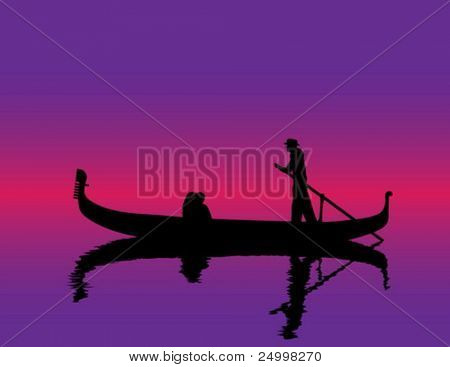 Couple kissing each other in gondola