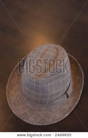 Stylish Hat On Table