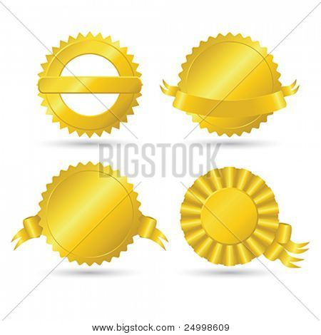 Golden medallions
