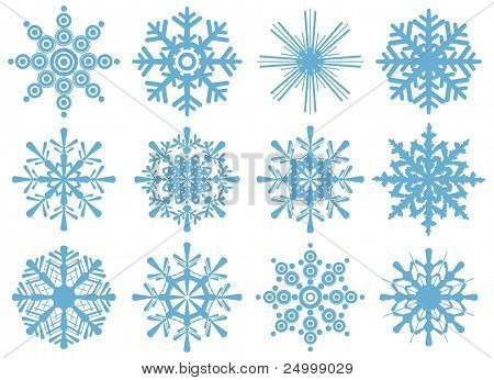 set of brand new snowflakes