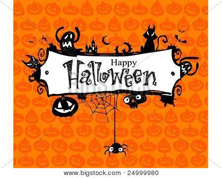 Halloween vector frame.