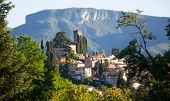 View of Barga, one of the most beautiful villages in Italy, a prestigious tourist quality brand in poster
