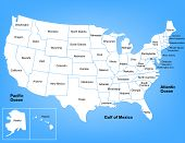 stock photo of texas map  - This is a basic vector map of the United States - JPG