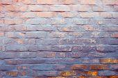 Old Brick Wall Texture. Grunge Brick Wall Background. Brick Wall Motifs . Texture Stone Surface Back poster