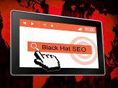 Black Hat Seo Website Optimization 3D Illustration poster