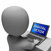 Digital Detox Digital Gadget Cleanse 3D Rendering poster