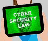 Cyber Security Law Digital Legislation 2D Illustration poster