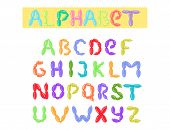English Balloon Colorful Alphabet Vector Holidays Party Abc And Education Ozone Type Greeting Helium poster