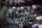 Iot, Internet Of Things, Telecommunication Concept. Iot, Internet Of Things, poster
