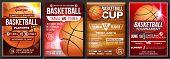 Basketball Poster Vector. Design For Sport Bar Promotion. Basketball Ball. Modern Tournament. Game E poster