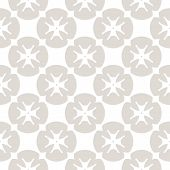 Vector Floral Seamless Pattern. Subtle Geometric Background With Flowers, Rounded Figures, Crosses,  poster