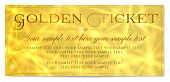 Golden Ticket, Gold Ticket Vector Template Design With Star Golden Background. Useful For Coupon, An poster