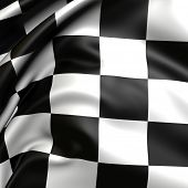 Checker flag.