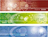 foto of computer technology  - Technology Banners set - JPG