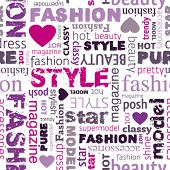 pic of girly  - I love my fashion style seamless pattern in vector - JPG