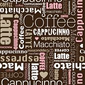 I love all sorts of coffee seamless background pattern in vector