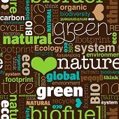 stock photo of carbon-footprint  - Seamless bio eco environment typography pattern in vector - JPG