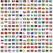 picture of flags world  - alphabetically sorted flags of the world  - JPG