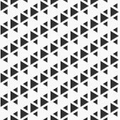 Abstract Seamless Pattern Of Triangles. Modern Stylish Texture. Repeating Geometric Triangle Tiles.  poster